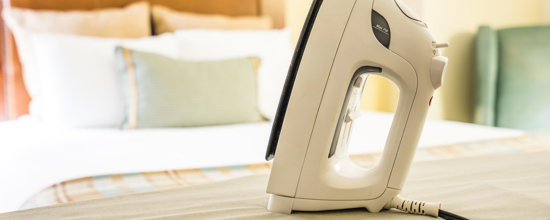 hotel iron and ironing board