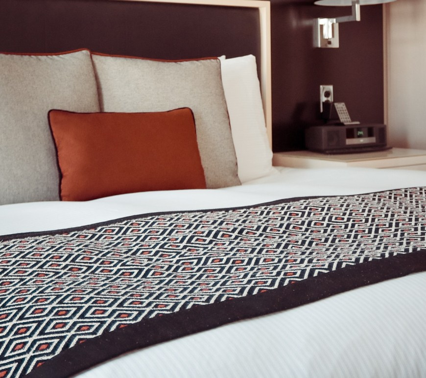 hotel pillows and bed scarves