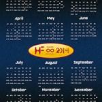 Calendar Hustle Forever 2014