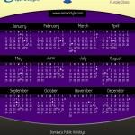 Calendar 2014 Purple Class