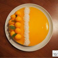 Bavarois exotique, mangue & noix de coco  #Pourquoi je grossis