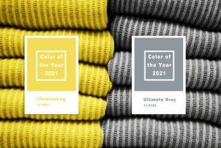 Collage,With,Illuminating,And,Ultimate,Gray,Pantone,Color,Of,The