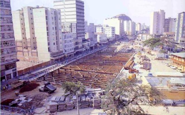 Praça Saens Peña (Obras do Metrô) - Final dos Anos 70