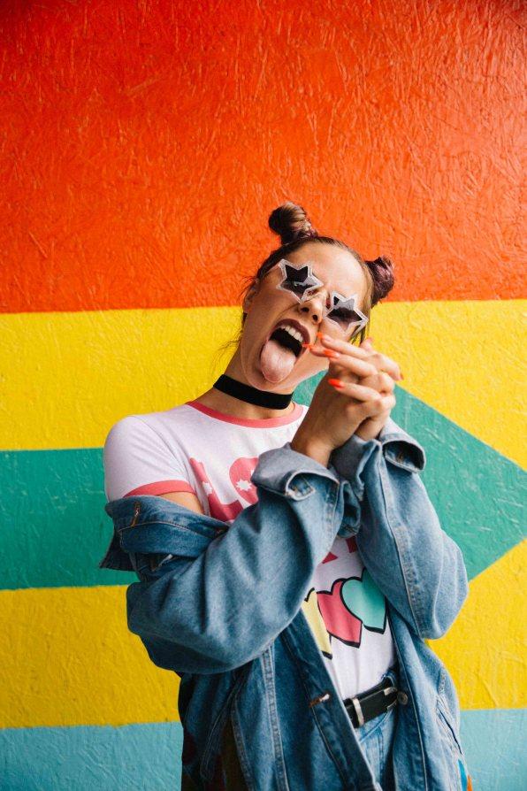 diy painted denim jacket disturbia rainbow-24