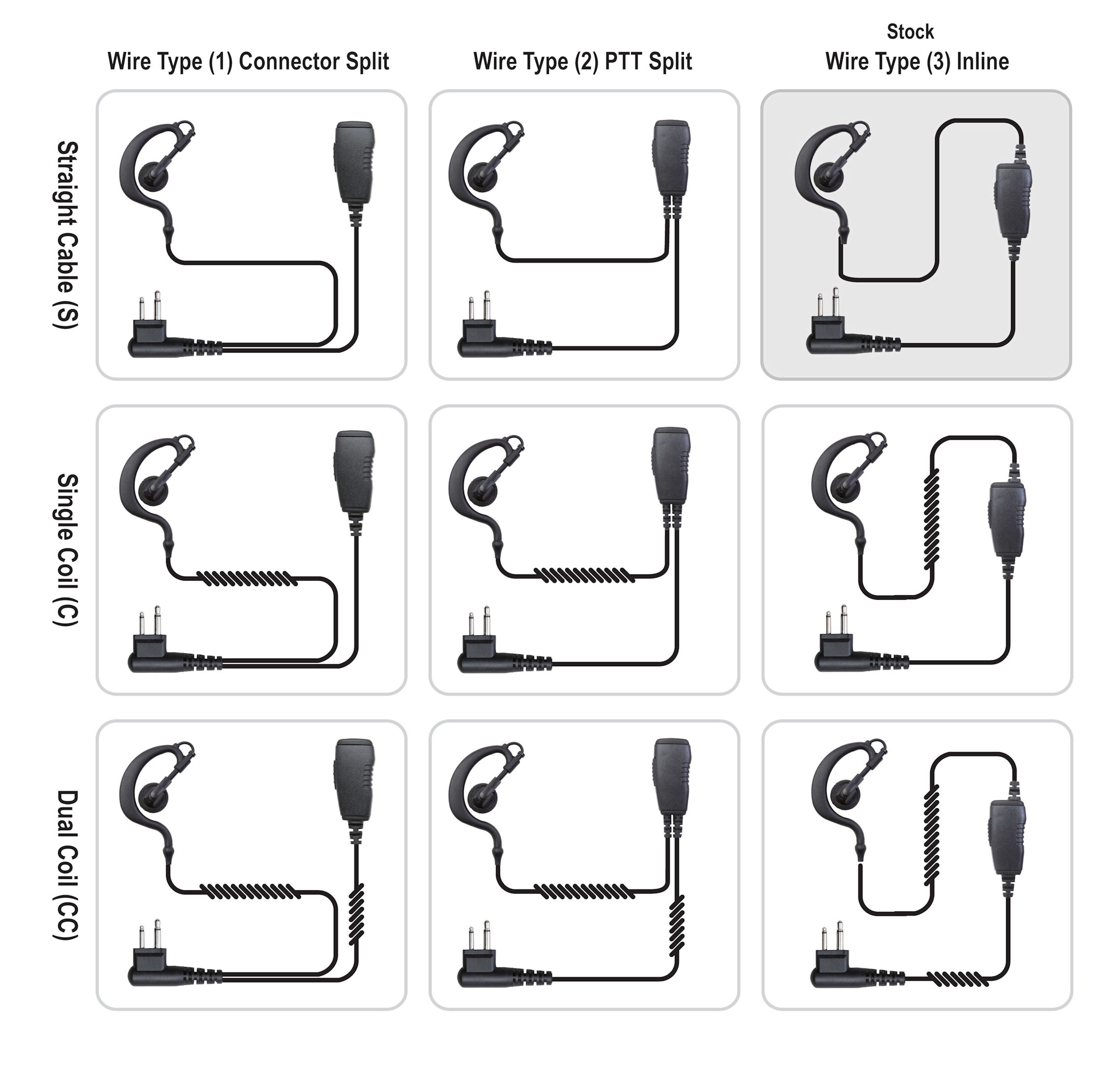 Ear Hook 1 Wire Wrap Tight Ptt Ehwt1w
