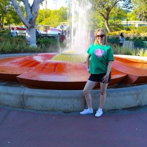 Krystal Donovan sporting her NAM appareal at Downtown Disney