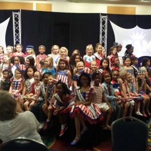 All American Miss Princess Patriotic rehearsal