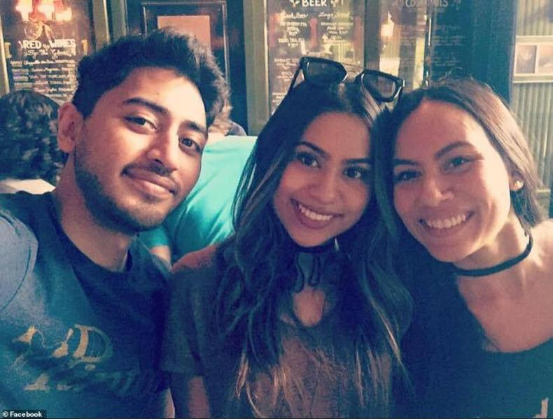 Fahim Saleh is pictured with his two sisters,Rif Saleh (center) and Ruby Bashir (right). It is not known which of them made the grisly discovery