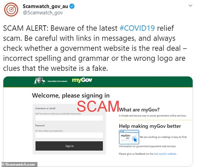Australians have been warned to be cautious when receiving an email claiming to be from myGov as it could be a scam