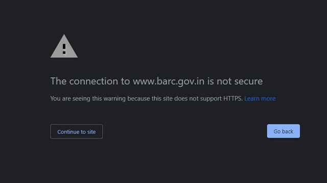 https unsupported warning