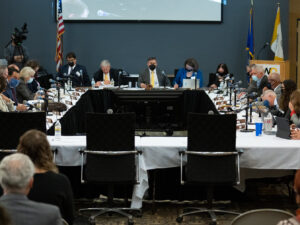 Photo of Board of Regents meeting, hosted by UW Oshkosh