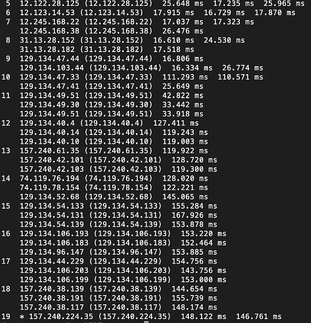 Facebook indicated that human error was to blame, citing 'faulty configuration changes' on its network which had interrupted the traffic flowing between its data centres. This had a 'cascading effect' which brought its services to a halt. Above:A Facebook staff member reportedly accidentally deleted large sections of the code (pictured) which keeps the website online