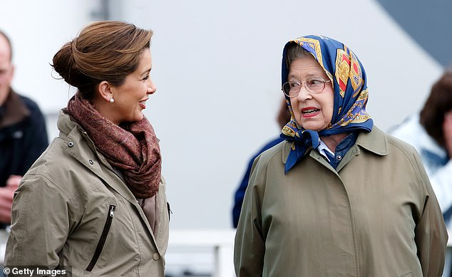 The royals have endured the details of Sheikh Mohammed's cruel behaviour towards his estranged wife Princess Haya (pictured with the Queen in 2009) being played out in court