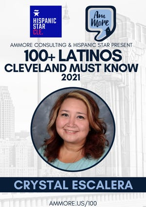 Crystal Escalera is among 103 Latinos in the Greater Cleveland area recognized by AmMore Consulting.