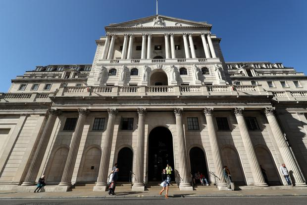 The Bank of England in the City of London (Yui Mok/PA)