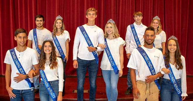 The 2021 Galion High School Homecoming king and queen will be crowned prior to the kick-off of the Tigers' Homecoming game against Lima Central Catholic on Friday. Sam Albert (middle), Hanif Donaldson (front right), Kyle Foust (back right), Walker Frankhouse (front left), and Sam Wegesin (back left) will vie for the title of Homecoming king, while Ady Monk (middle), Ashlee Oris (front right), Ava Smith (back right), Zaynah Tate (front left), and Melanie Wheeler (back left) are candidates for 2021 Homecoming queen.
