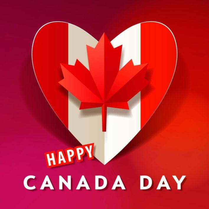 Canada Day Heart pic