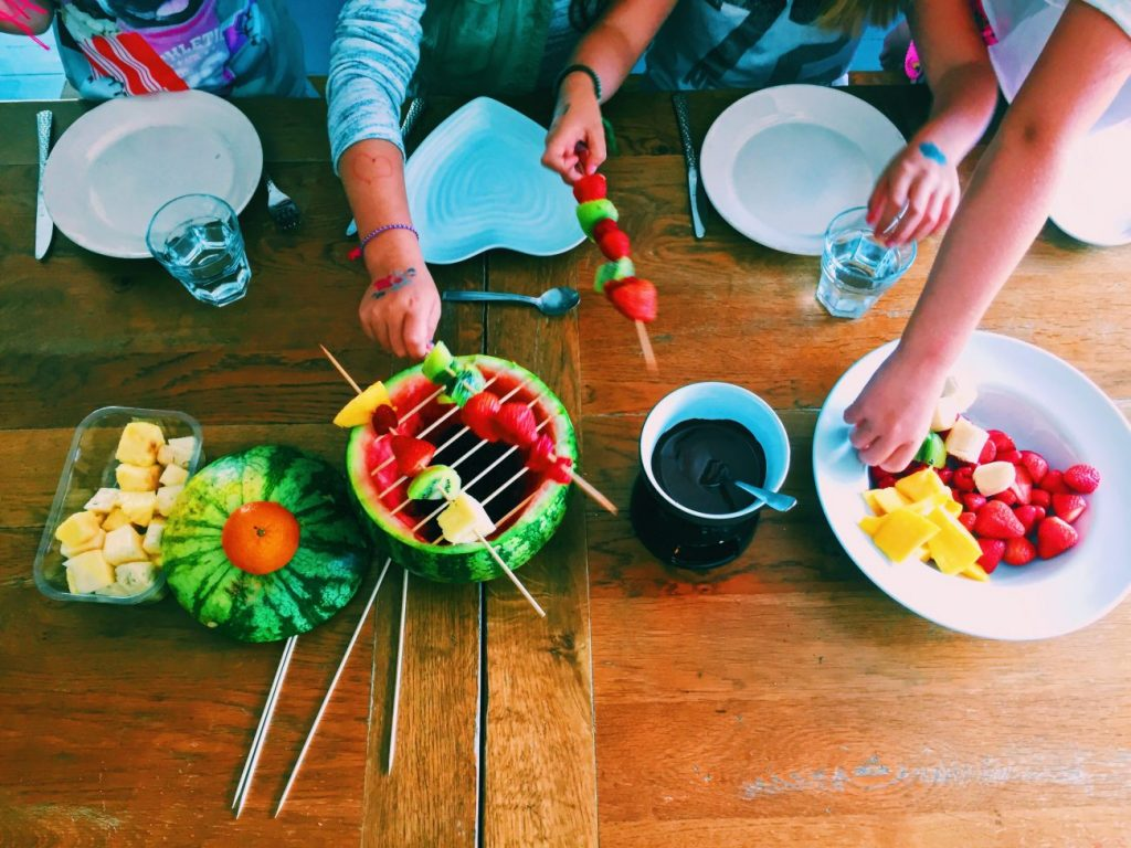 It's a fruit frenzy when you make a fruit BBQ for the kids