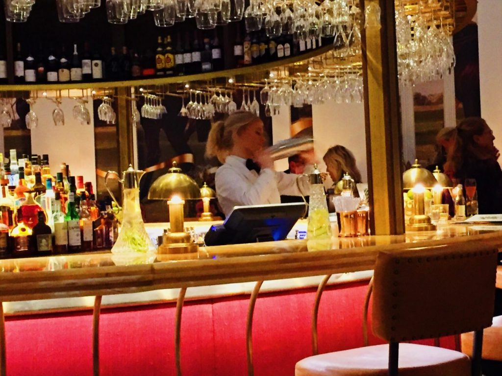The cocktail bar at The Ivy Cheltenham