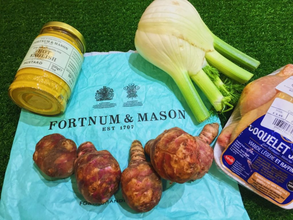 Fortnum and Mason ingredients to spatchcock Poussin with Fennel and Artichokes | National Dish