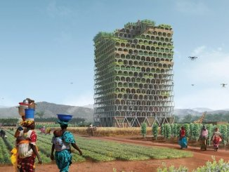 "The brainchild of Polish architects Pawel Lipiński and Mateusz Frankowski, the Mashambas Skyscraper is a new concept for a skyscraper designed to ""bring [the] green revolution to the poorest people,"""