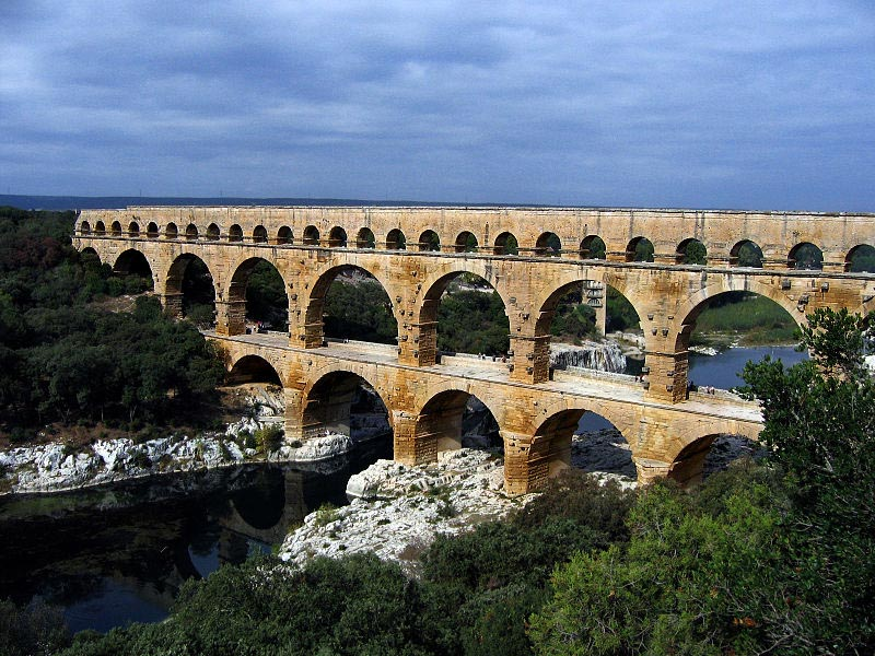 Roman aqueducts were feats of engineering