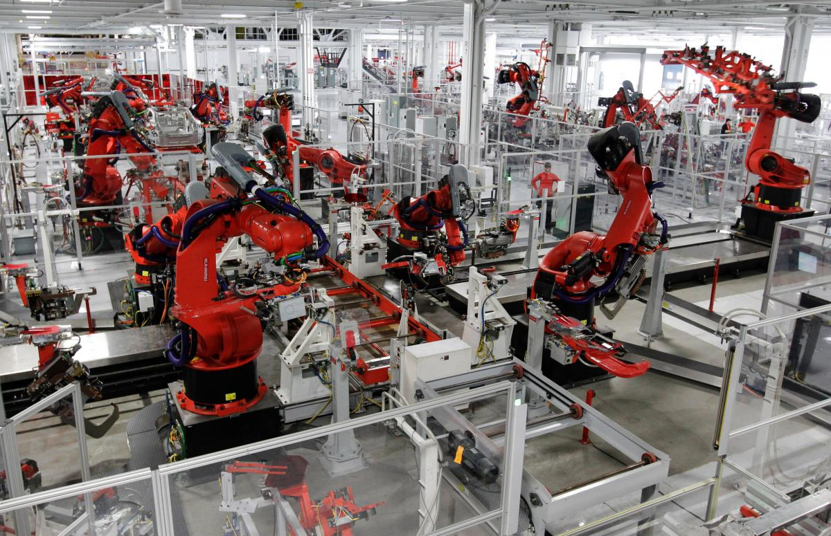 factory automation, robots