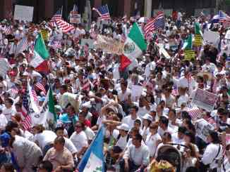 illegal immigrants protesting