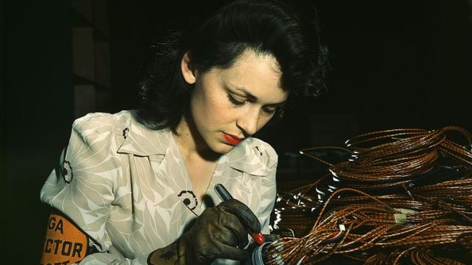 woman at work in factory