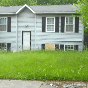 This home in a nice, African American neighborhood in Prince George's County, MD has been completely neglected by Deustche Bank.