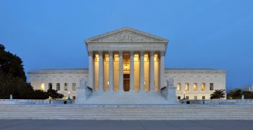 Panorama of U.S. Supreme Court at Dusk