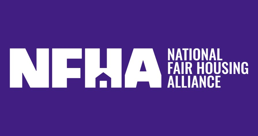 NFHA White Logo on Purple Background