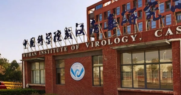 The sign of the Wuhan Institute of Virology at main entrance