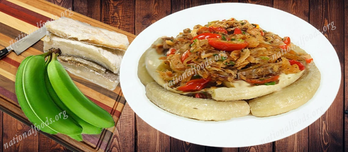National Dish of St. Lucia Green Fig and Saltfish