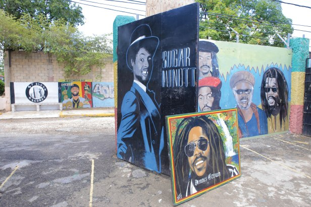 Donny Coxone - Murals at the Youth Promotion Music Centre, Robert Crescent, Kingston