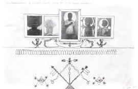 Xavier Haugton- The Philovisulization of Dsmalla Hweolo - Giving Rise to the Afrikan Vanguards (2017, study drawing)