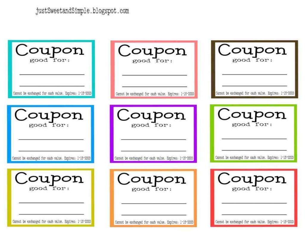 free coupon template printable