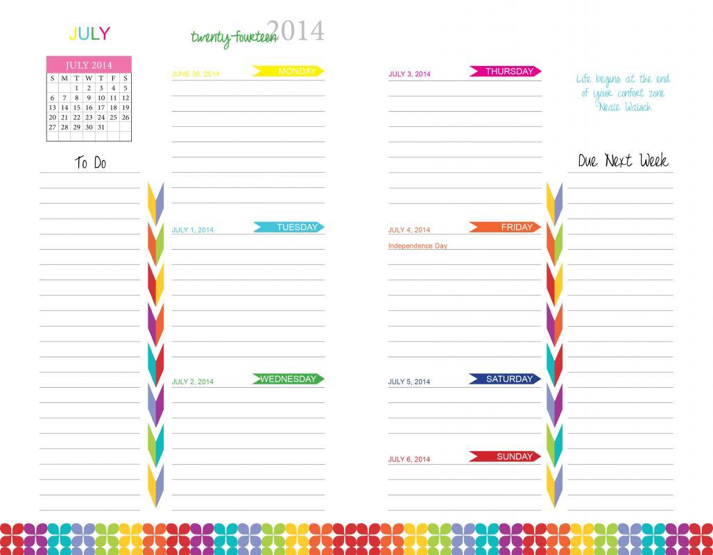 Free Printable Daily Goal Worksheet