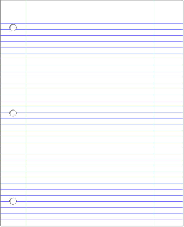 College Ruled Lined Paper Template   FREE DOWNLOAD  Printable College Ruled Paper