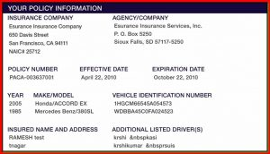 auto proof of insurance card template  Free Insurance Card Template | Carbk.co
