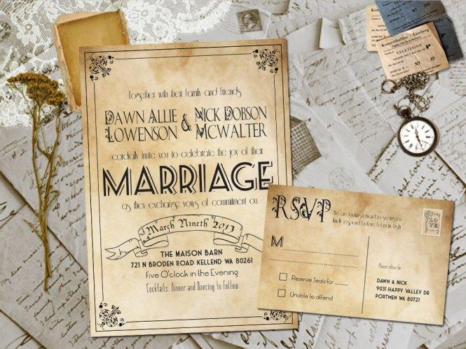Rustic Wedding Invites Templates Template Business