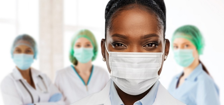 Nurses wearing masks