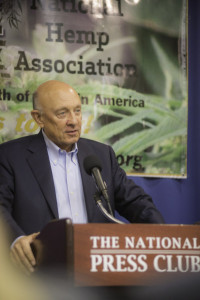James Woolsey speaking at NHA news Conference in Washington DC - Photo by Ben Droz
