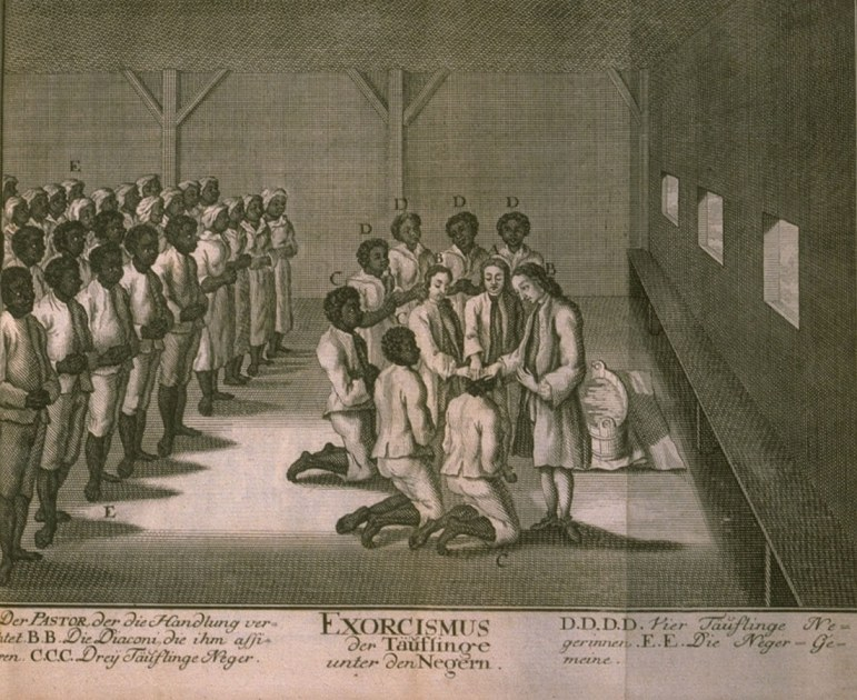 Slaves baptized in a Moravian congregation, 1757