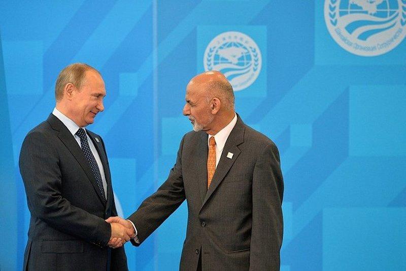 Vladimir Poutine avec Ashraf Ghani. Kremlin.ru