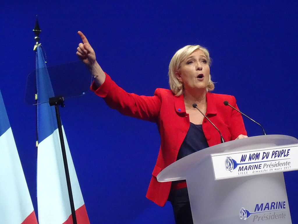 Marine Le Pen campaigning in Lille, March 2017. Wikimedia Commons/Creative Commons/Jérémy-Günther-Heinz Jähnick
