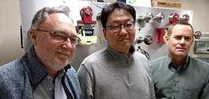 "The ""Little Big Coil"" team included (left to right) David Larbalestier, Seungyong Hahn and Iain Dixon."