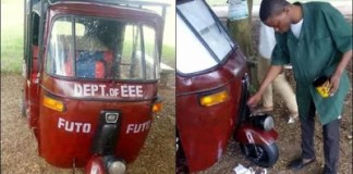 FUTO final year student builds solar-powered tricycle