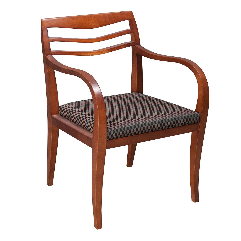 Haworth Forenze Used Wood Side Chair Multi Checker
