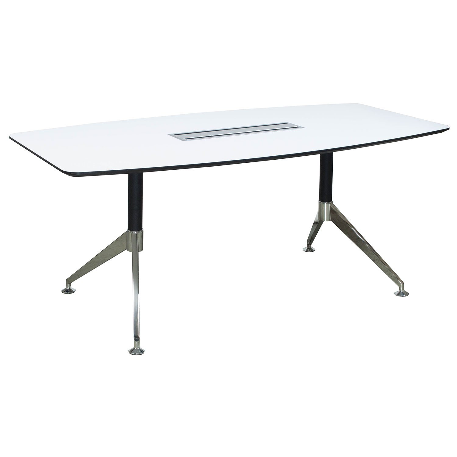 Morgan 6 Foot Melamine Boat Shaped Conference Table White